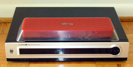 SlingBox PRO with a Set Top Box