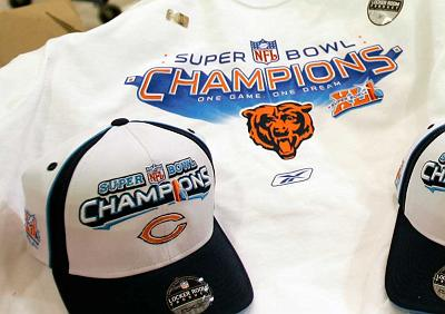 Bears Super Bowl Merchandise