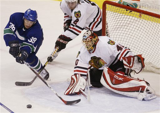 Blackhawks Beat Canucks with Lalime