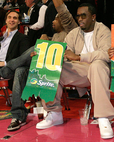 Diddy At 2007 NBA All Star Game