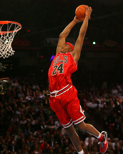 Tyrus Thomas at 2007 NBA Slam Dunk Contest