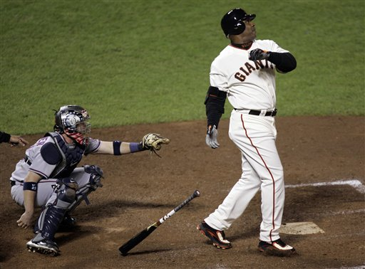 Barry Bonds hits HR 756