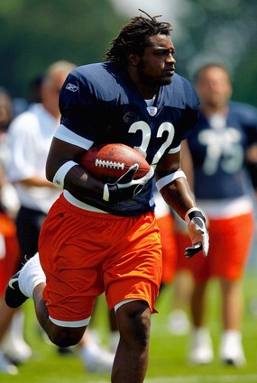 Cedric Benson at Bears training camp