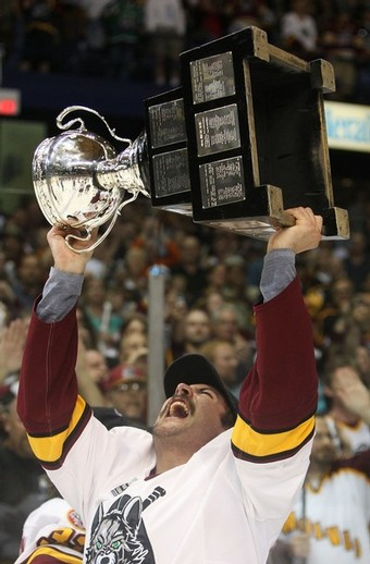 Chicago Wolves win the 2008 Calder Cup Championship