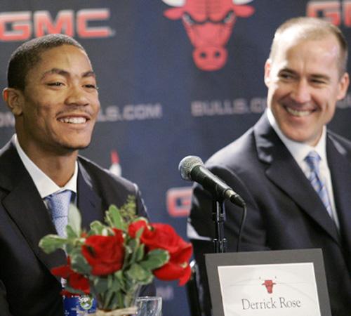 derrick rose bulls. derrick rose drafted #1 by